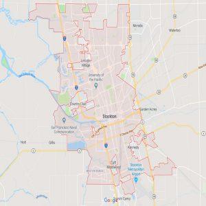 Map Residential Solar Stockton in San Joaquin County